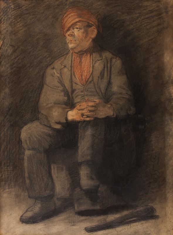 CHRISTIE James Elder (1847-1914) - Study of a ruffian.