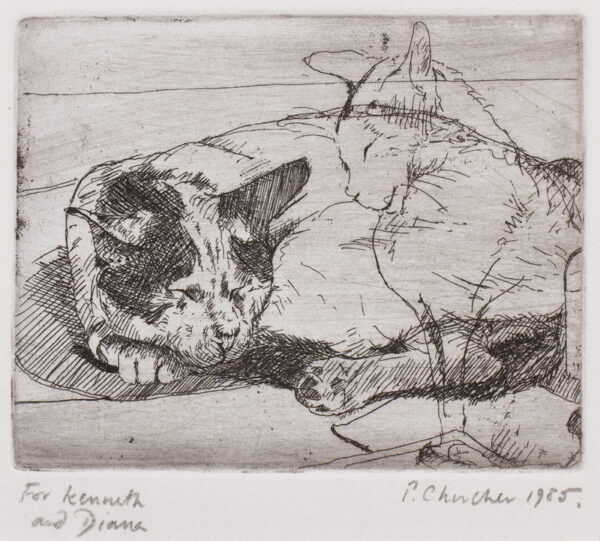 CHURCHER Peter (b.1964 Australia) - Two cats.