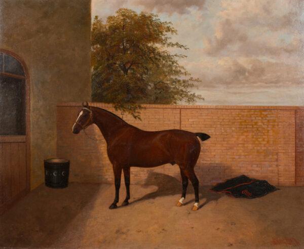 CLARK Albert (late 19th century) - 'Alethorpe Supreme', Edmund Crowe Chapman's Champion Trotter at the Islington Horse Show.
