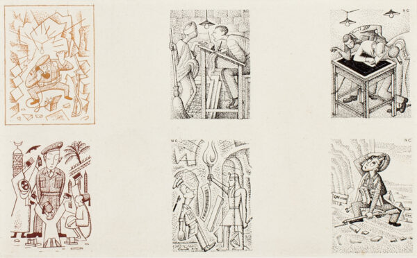 CLARKE Norman R.W.S. (1913-1992) - 'Set of illustrations for a history of an R.