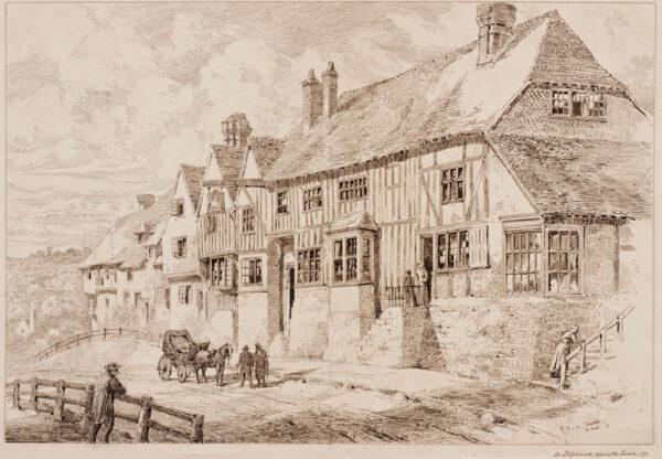 CLARKE Edward F. C. (Exh: 1881-1888) - 'At Staplehurst, opposite the Church', Kent.