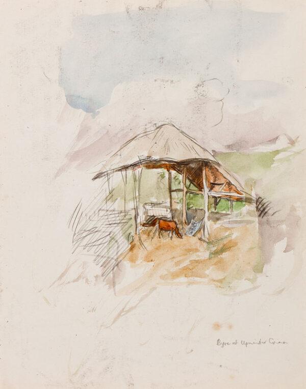 CLARKE HALL Edna (1879-1979) - 'Byre at Upminster Green'.
