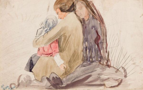 CLARKE HALL Edna (1879-1979) - 'Carola and Denis'.