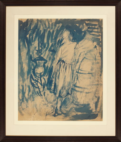 CLARKE HALL Edna (1879-1979) - 'The Hearth'; one of the many Wuthering Heights inspired studies she made from 1902 into the '20s.