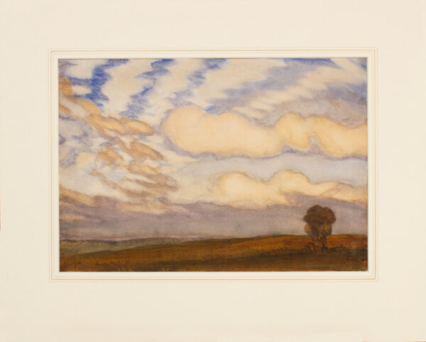 CLAUSEN Sir George R.A. R.W.S. (1852-1944) - Cloud study.