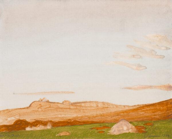 CLAUSEN Sir George R.A. R.W.S. (1852-1944) - Distant moors.