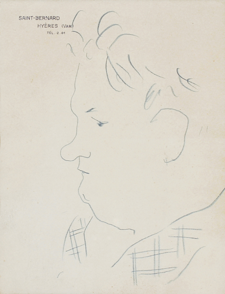 COCTEAU Jean (1889-1963) - 'Georges Auric' (1899-1983).