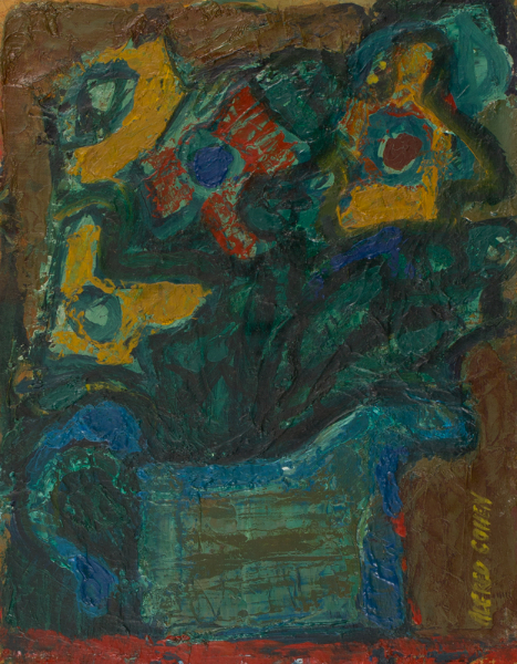 COHEN Alfred (1920-2001) - 'Anenomes'; painted as a wedding anniversary bouquet.