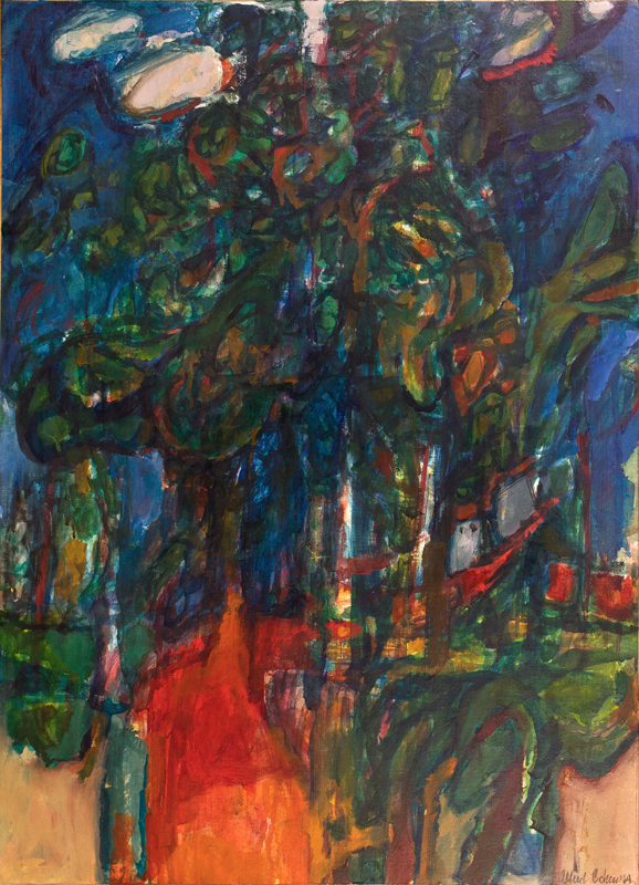 COHEN Alfred (1920-2001) - 'Wooded Path'.