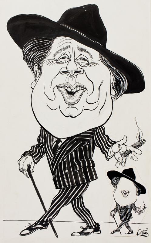 COLE Richard (b.1942) - 'George Melly'.