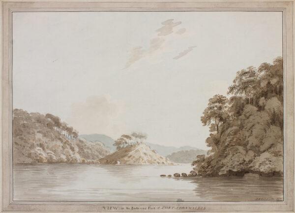 COLEBROOKE Lieutenant Robert Hyde (c.1762-1808) - Andaman Islands: 'View of the interior part of Port Cornwallis'.