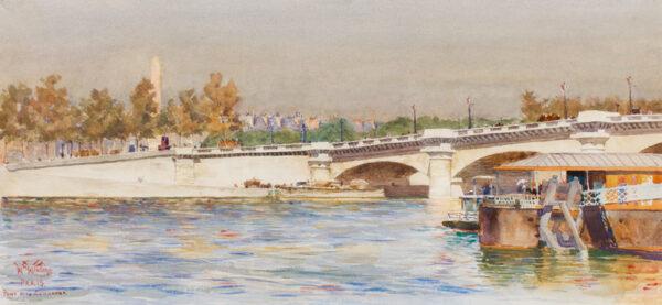 COLLINS William Wiehe R.I. (1862-1951) - Paris : the Pont de la Concorde.