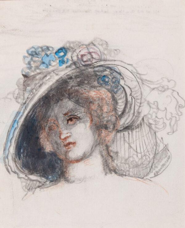 CONDER Charles N.E.A.C. (1868-1909) - Head of a woman.
