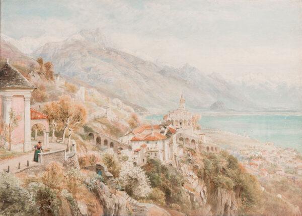 COOK Ebenezer Wake (1843-1926) - View over Lake Maggiore.