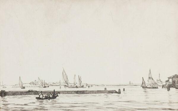 BONE Sir Muirhead N.E.A.C. (1876-1953) - 'Chioggia'.