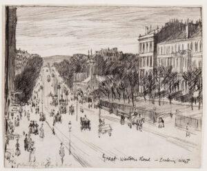 BONE Muirhead N.E.A.C. (1876-1953) - Glasgow: 'Great Western Road – Looking West'.
