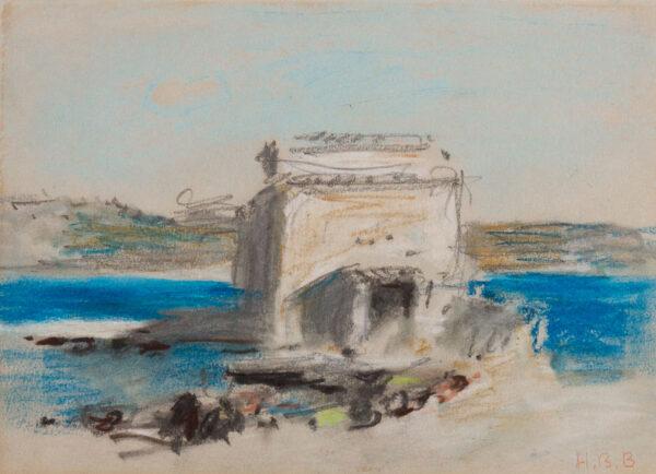 BRABAZON Hercules Brabazon N.E.A.C. (1821-1906) - A Mediterranean harbour, probably North African.