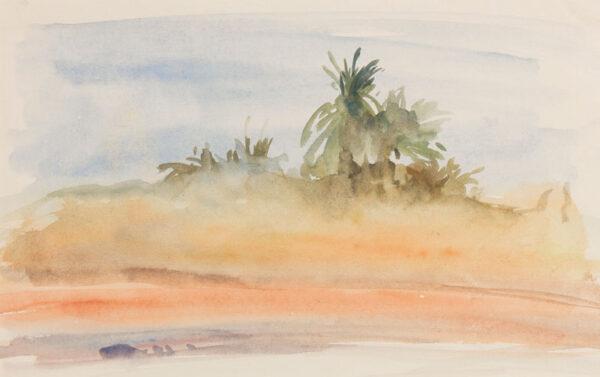 BREAM Antony (b.1943) - 'Oasis at Ouarzazate'.
