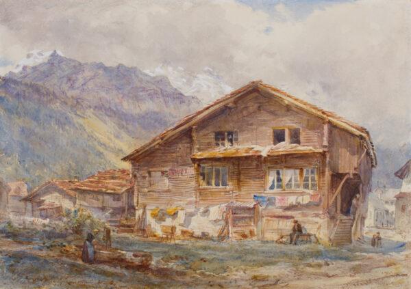 COLLINGWOOD William R.W.S. (1819-1903) - 'At Engelberg'.