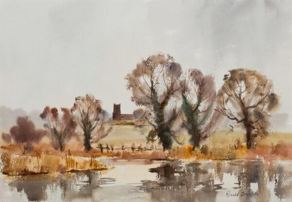 CRAMPTON Ronald (1905-1985) - Meadows at Castle Acre, Norfolk.