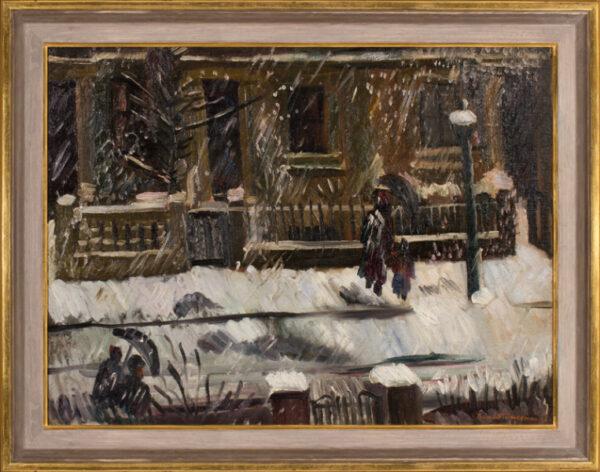 FREEDMAN Barnett C.B.E. (1901-1958) - London: snow storm.
