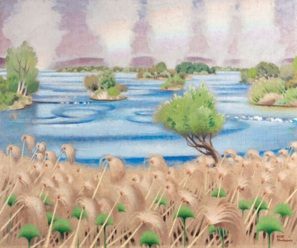 HENDERSON Keith (1883-1982) - 'A mile above the Zambesi Falls'.