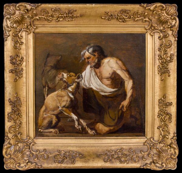HONDIUS Abraham (1638-1695) - Man and hounds.