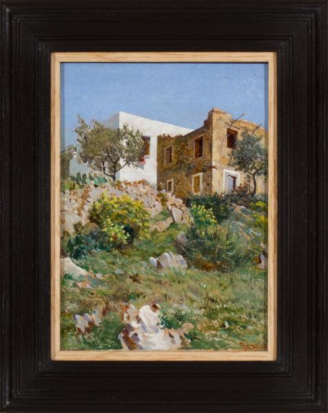 JERACE Gaetano (1860-1940) - 'Capri Spring 1882'.
