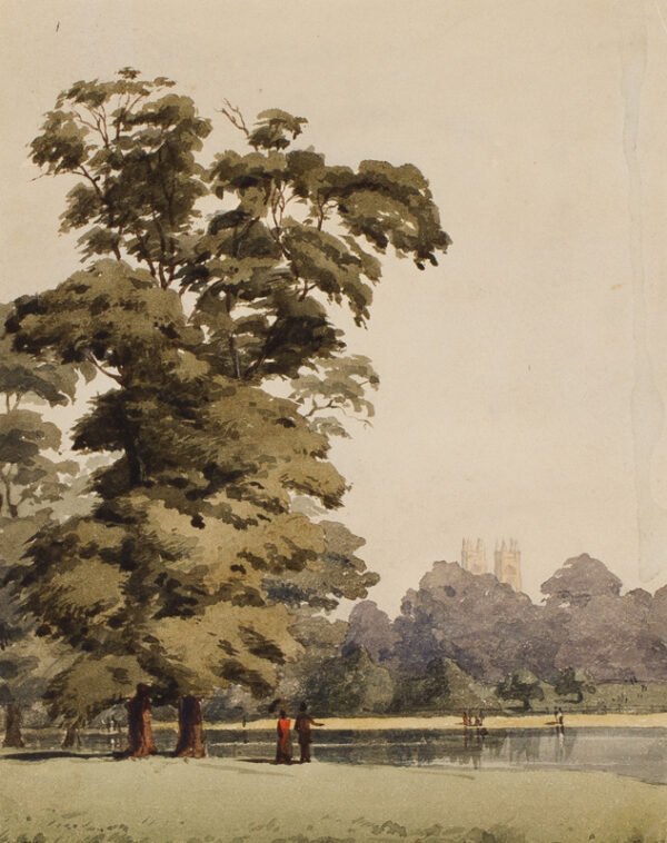 POYNTER Sir Edward P.R.A. R.W.S. (1836-1919) - Westminster Abbey from St James's Park.