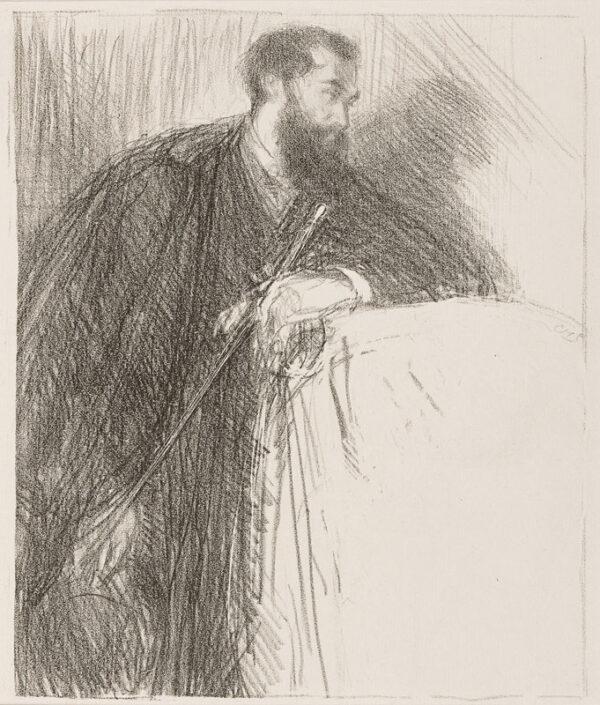 SHANNON Charles Hazelwood R.A. (1863-1937) - 'Lucien Pissarro' (R.