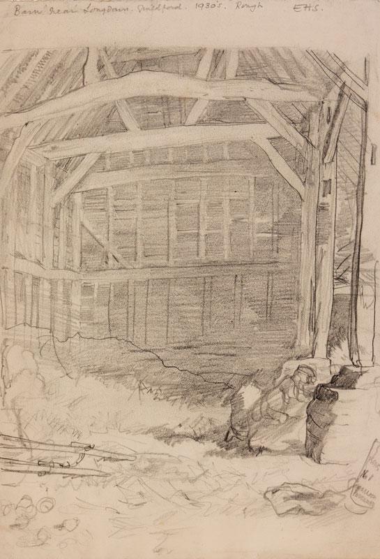 SHEPARD Ernest Howard (1879-1976) - 'Barn near Longdown, Guildford.