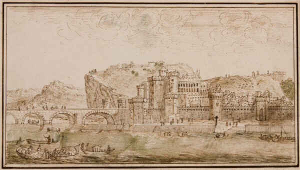 SILVESTRE Israel (1621-1691) After - View of Avignon.
