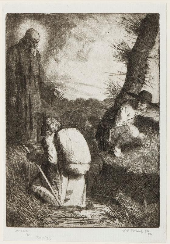 STRANG William R.E. R.A. (1859-1921) - Pilgrim in the Slough of Despond.