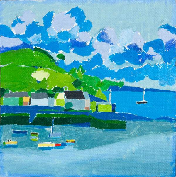 SUTTON Philip R.A. (b.1928) - 'Flushing, Cornwall'.
