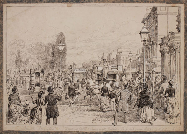 CORBOULD Alfred Chantry (1852-1920) - 'London, Queensgate and Cromwell Road.