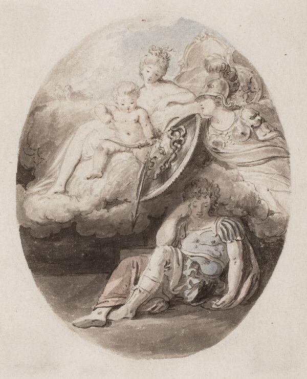 CORBOULD Richard (1757-1831) - Aphrodite, Athena and Paris, Aeneas or Achilles? 3.