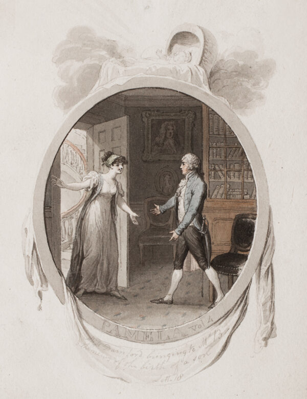 CORBOULD Richard (1757-1831) - 'Miss Darnford bringing to Mr B / the news of the birth of a son / Lett.