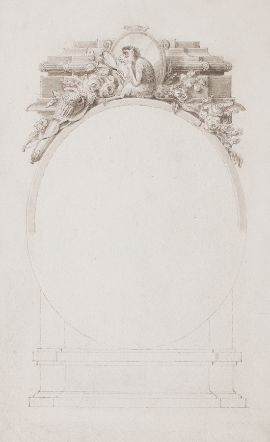 CORBOULD Richard (1757-1831) - Cartouche for an illustration to Book IV Chap 3 of a 1798 edition of  Henrietta by Charlotte LennoX (Publ.