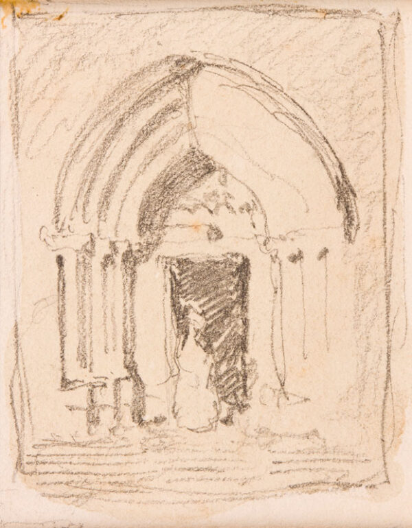 COTMAN John Sell (1782-1842) - Light and shade, possibly the North Door of Lisieux Cathedral.