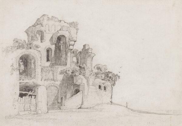 COTMAN John Sell (1782-1842) - Castle remains.