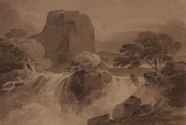COTMAN John Sell (1782-1842) - Capriccio landscape.