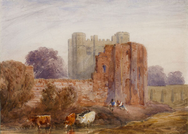 COX David O.W.S. (1783-1859) - Worcestershire: The ruined Keep of Kenilworth Castle.