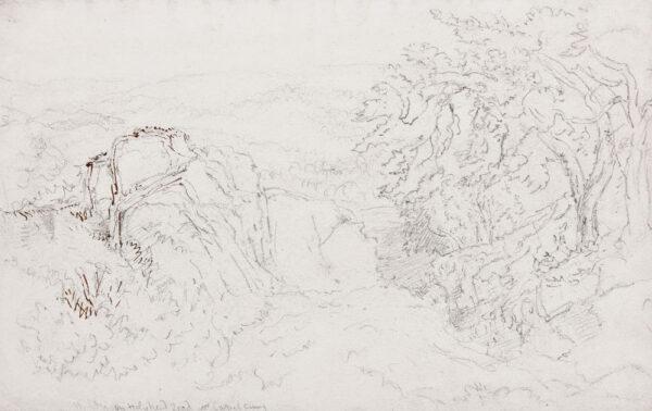 COX David O.W.S. (1783-1859) - 'The Holyhead road near Capel Curig'.