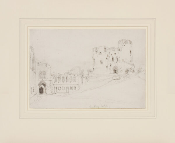 COX David O.W.S. (1783-1859) - Staffordshire; 'Dudley Castle'.