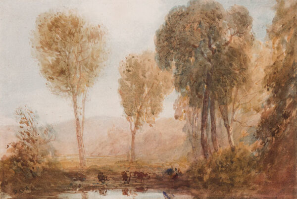 COX David O.W.S. (1783-1859) - Cattle watering.
