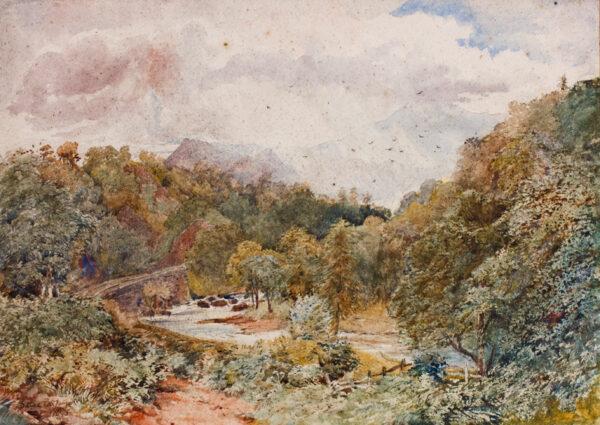 COX David Jnr (1809-1885) - Welsh river.
