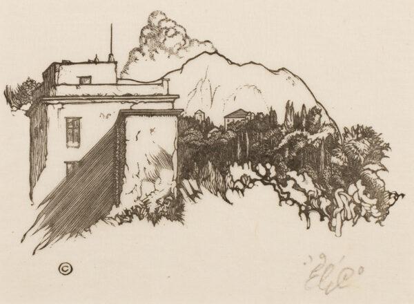 CRAIG C.H. Edward Gordon (1870-1966) - House on a hill.
