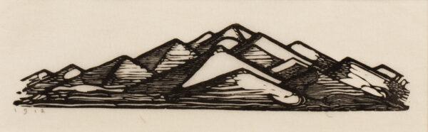 CRAIG C.H. Edward Gordon (1870-1966) - 'Pyramids'.