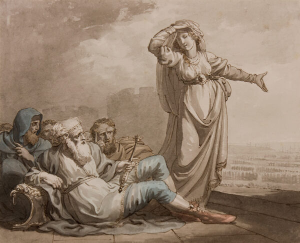 CRAIG William Marshall (c.1765- 1827) - Cassandra and Priam on the walls of Troy.