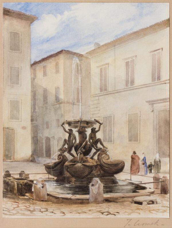 CROMEK Thomas Hartley (1809-1873) - A Roman piazza.